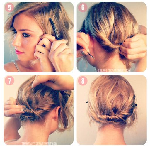 Прически верх короткие волосы как сделать