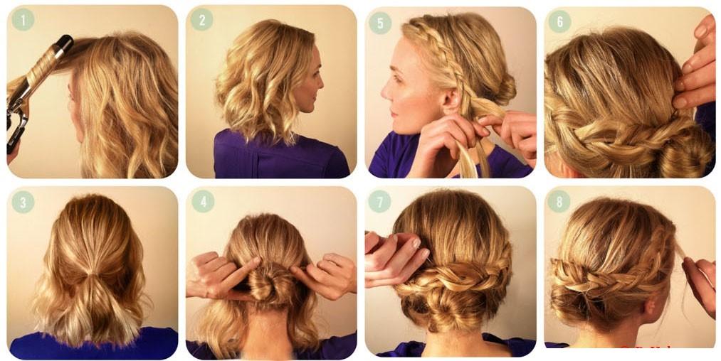 Прически с косами на короткие волосы в домашних условиях пошагово