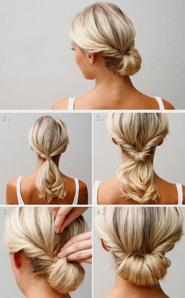 Причёске для волос средней длины своими руками